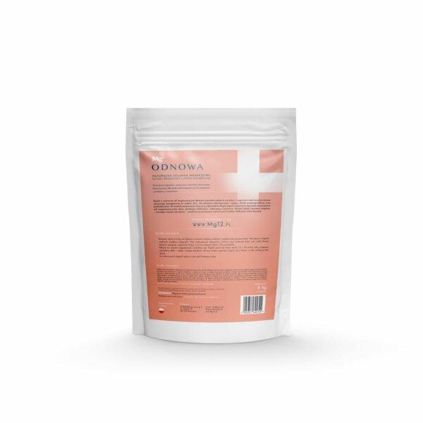 mg12 odnowa sól epsom 4kg tył