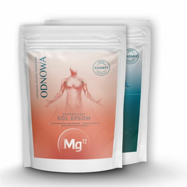 mg12 odnowa płatki magnezowe 4kg oraz epsom 4kg