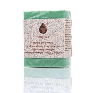 mydło świerkowe z olejami roślinnymi terra spa